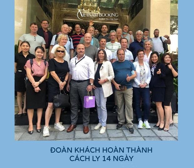 Hành khách nước ngoài đã hoàn thành cách ly 21 ngày dịch vụ trọn gói tại Vietnam Booking