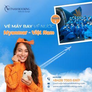 Chuyến bay từ Myanmar về Việt Nam tháng 6