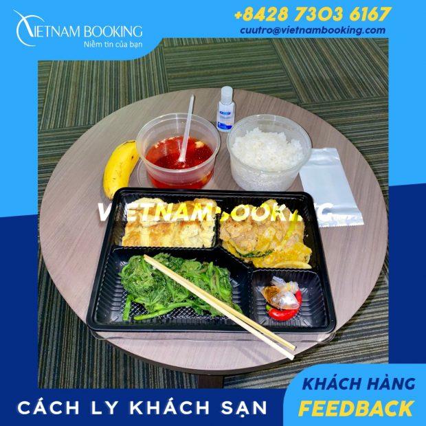 Thực đơn đầy dinh dưỡng dành cho hành khách cách ly tại khách sạn